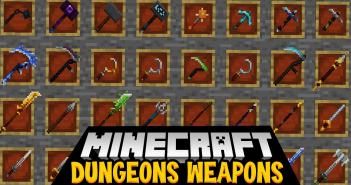 MC Dungeons Weapons Mod 1
