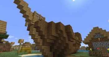 sunken ship in the village minecraft 1.14 seed views 266 sunkenshipinthevillageseed1024x6401