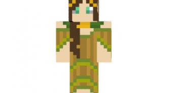Girl forest skin