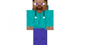 Steve with a hoodie skin