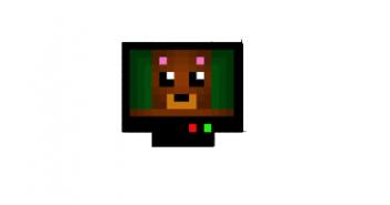 Cute bear in tv skin